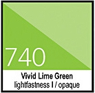 740 Vivid Lime GreenTusz 30ml Liquitex