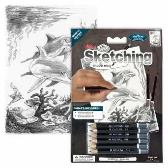 """Sketching make  easy"" SKBNMIN101 ""Delfiny"" Royal&Langnickel"