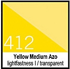 412 Yellow Medium Azo Tusz 30ml Liquitex