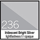 236 Iridescent Bright Silver Tusz 30ml Liquitex