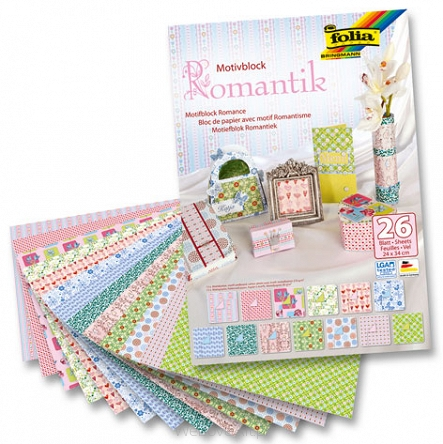 Motivblock Basic Romantik, blok papierów do scrapbookingu