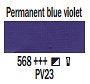 568 Permanent Blue Violet , farba akrylowa Art Creation, 200ml Talens