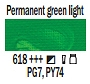 618 Permanent Green Light, farba akrylowa, Art Creation, 200ml Talens