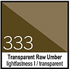 333 Transparent Raw Umber Tusz 30ml Liquitex