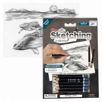 """Sketching make  easy"" SKBNMIN106 ""Wieloryby"" Royal&Langnickel"