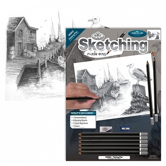 """Sketching make  easy"" SKBN5 ""Port rybacki"" Royal & Langnickel"