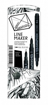 Black Set, Graphik Line Marker, Derwent